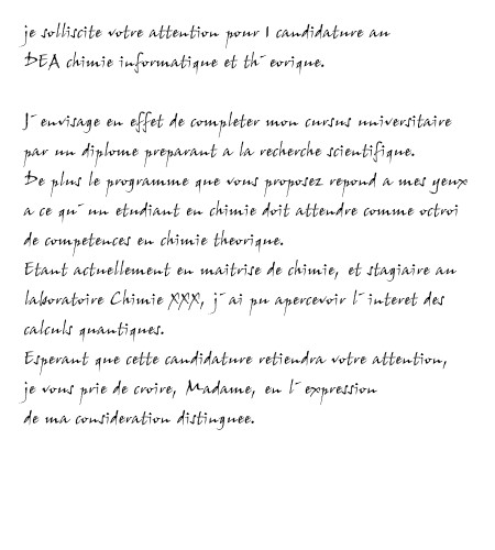 Candidature Dea Chimie Lettre De Motivation Le Weblog Des